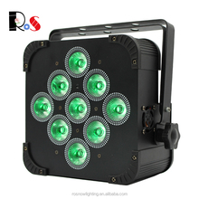 Super good for wedding events with IRC control 9x18W RGBWA+UV 6 in 1 battery wireless led uplights for sale
