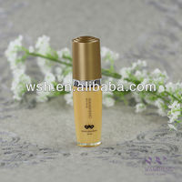 30ml slanted acrylic lotion bottle withcap sprayed in mat gold