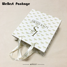 Webes hot sale shopping OEM competitive price customized logo kraft paper bag bag factory China