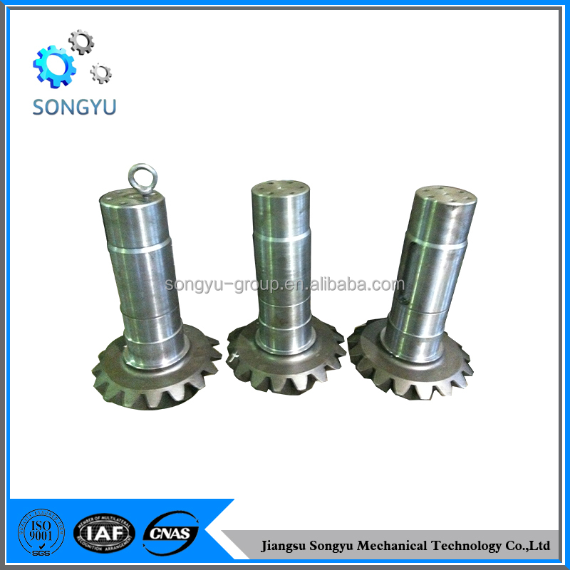 Transmission China forging c45 helical gear shaft