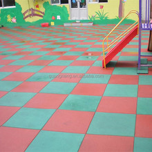 outdoor basketball court rubber floor tile/Colorful rubber paver