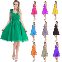 Walson solid color slim fit chiffon flower shoulder rockabilly swing dress evening dress 2016
