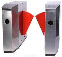 304 Stainless Steel Flap Barrier,Automatic Swing Flap Barrier Gate Biometric System Access Controller