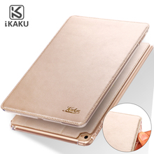 100% Genuine leather book style anti-shock tablet accessories back cover case for apple ipad 2 for apple ipad air air 2