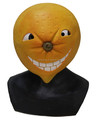 Fruit juice Costume Lovely masquerade Fancy dress Latex Orange Cartoon Mask for advertising