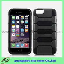 TPU plastic protective case for iphone 6, hydrid combo cover for iphone case