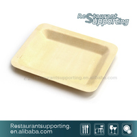 Hot selling restaurant service eco friendly disposable bamboo plate