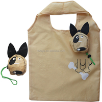 Customised Foldable Polyester Shopping Bags Animal Reusable Bags