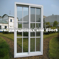 Factory wholesale upvc sliding glass door with grills