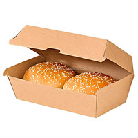 hiqh quality corrugated kraft paper burger boxes