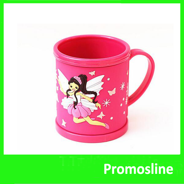 Hot Sale Promotional kids plastic rubber mugs
