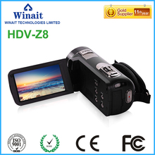 1080P Full HD Digital Video Camera HDV-Z8 24 MP LCD Touch Screen Camcorder with 12x Telephoto Lens Support Face Detection