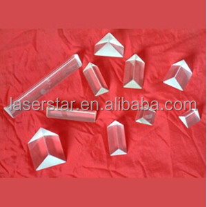 Fused silica/BK7/K9 60 degree equilateral right-angle glass triangular prism dispersion prism for physic teaching instruments