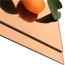 Anodized Golden Mirror Finished Aluminum Composite Panel(ACP)