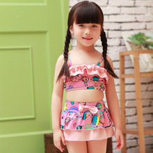 C74608A Little Kids Swimwear Girls Floral Pattern Swimsuit