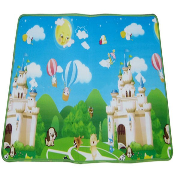 Eco-friendly folding kid plastic play mat for outdoor