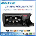 ZESTECH best price Car Audio player for Honda City 2014 Car Audio player with GPS, buletooth, ipod, RDS,3G +factory
