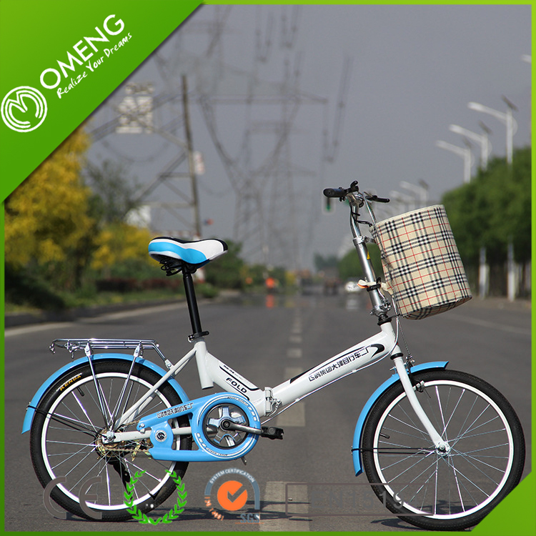 2016 new model 20 inch wheel 1 speeds folding bike/bicycle /pocket bike for sale