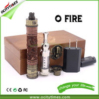 Big promotion large capacity battery wood O fire no wick vaporizer no leakage huge vapor e-cigarette mod
