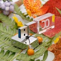 Custom Logo 2gb 4gb 8gb 16gb 32gb USB Flash Drive USB 3.0 Waterproof Memory Stick LED Crystal Thumb Drive