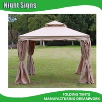 Luxury aluminium roman gazebo, outdoor gazebo with mosquito net
