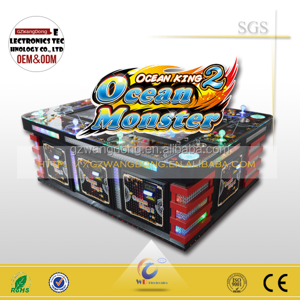 Fishing Game Machine ocean king 2 plus with New Products ICT L77 Bill acceptor
