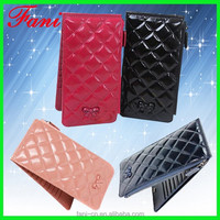 Latest design of Chinese designer ladies party clutch leather purse with elegance appearance