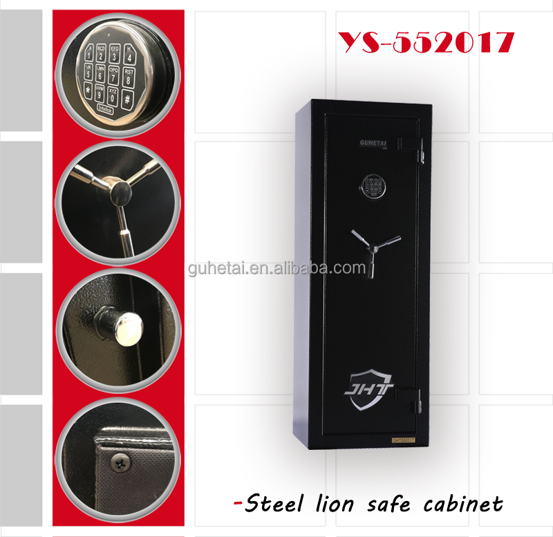High security hotel safe for keeping guns or jewelry and cash / electronic digital fireproof gun cabinet with electronic lock