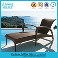 Durable New Design French Rattan High Elegant Chaise Lounge