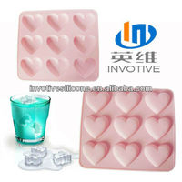 McDonald Supplier S329 Non-toxic FDA Standard Heart Shaped Fancy Ice Cube Trays