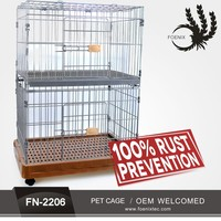 Chain link animal cage for sale factory direct pet stainless cage