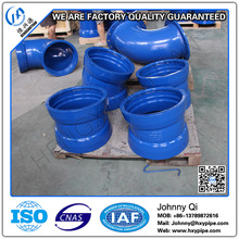 Customized DCI Pipe Fittings Water Pipeline Facility Double Socket 90 Degree 45 Degree 22.5 Degree Bend Potable Water Pipeline W