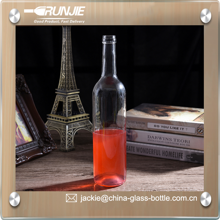RJ 750ml glass wine bottle, wine bottle 25oz