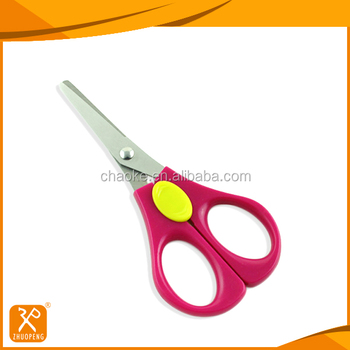 Lower price fancy style PP handle durable student craft scissors
