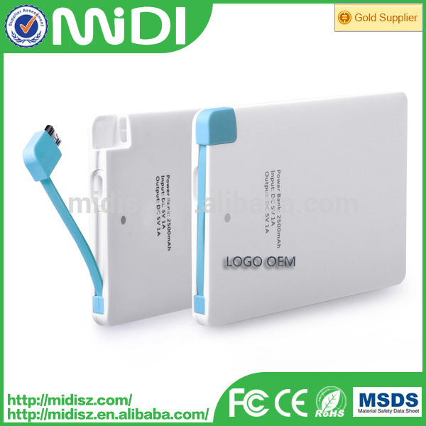 Mobile phone accessories wholesale 3000mAh Power banks , Portable power bank OEM/ODM Factory