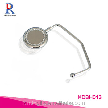 Customized Brand Metal Stapming Logo Bag Hook
