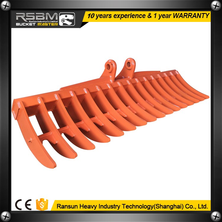 root rake for mini bulldozer and excavator