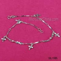 Wholesale fashion anklet design 925 sterling silver bracelet jewelry