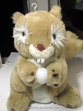 Squirrel Holding Ball Golf Head Cover Plush Large Club Driver