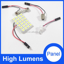 Factory Auto Parts 5050 SMD 12v auto led dome light roof light with 24 Led