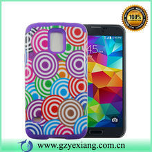 Colored circles Design case for samsung S5 case back cover