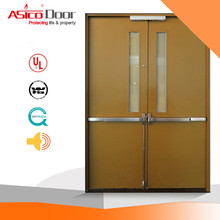 ASICO KH041 UL Certified Apartment Fire Rated Double Door With Vision Panel