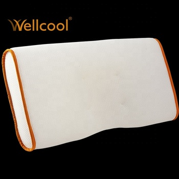 orange 100% polyester spacer fabric cooling 3d mesh pillow