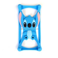 3D Cartoon Silicon Case for Mobile Phone Universal Case , silicon universal mobilephone frame