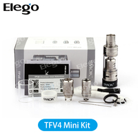 Authentic Black and Silver Smok TFV4 mini best top refilling sub ohm vape tank with high quality TF-CLP2, TF-RCA and TF-S6 coil