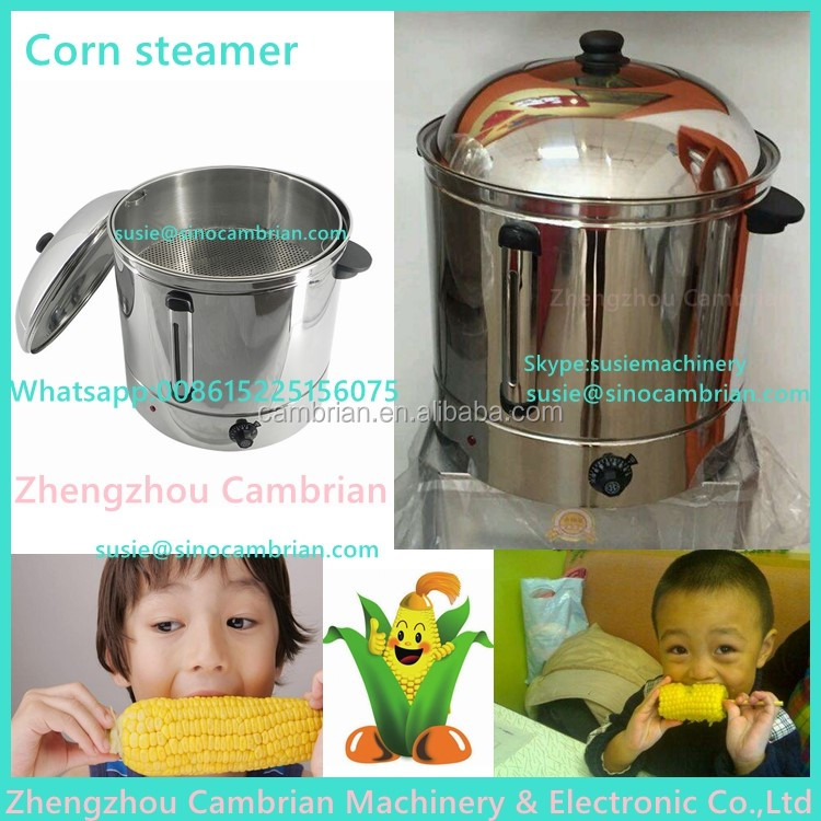 Satefy auto-off digital control 48L electric corn and peanut boiling machinery with 2 partion