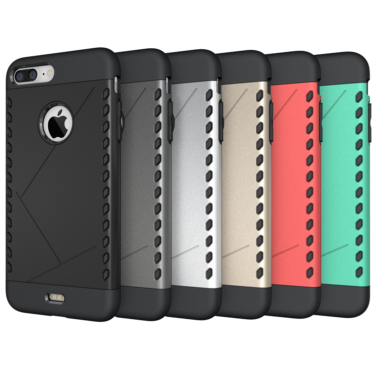 Hot Selling Silicon+PC hybird kickstand case for iphone 7