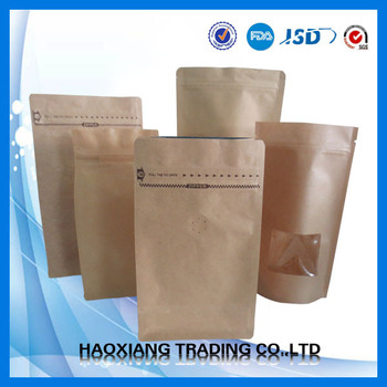 Kraft paper bag brown paper bag kraft square bottom paper bag
