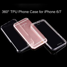 New Hot selling 360 full cover High clear screen protector soft silicon Gel case for iphone 6 7