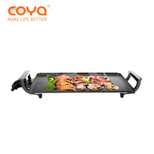 multifunction japanese indoor rectangular non-stick smokeless bbq teppanyaki electric grill